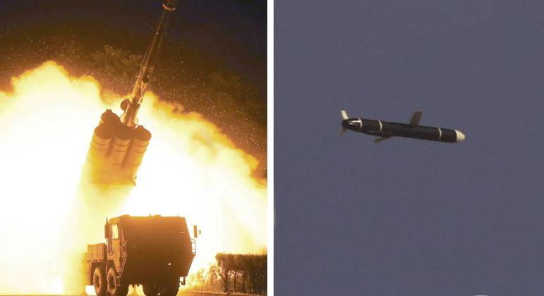 Imagens de exercício militar norte-coreano foram divulgadas pela agência estatal de notícias