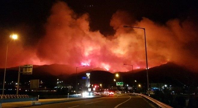Cerca de 3 mil pessoas tiveram que evacuar região