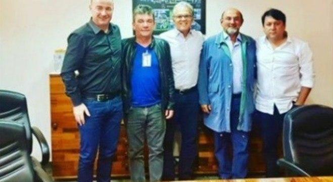 O presidente da Mercedes. E a foto com Andrés, Rosenberg e Arruda