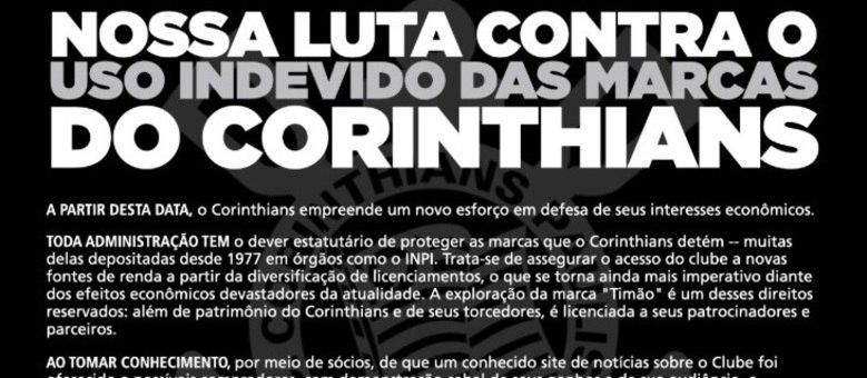 A nota do Corinthians dá dupla interpretação. A justiça terá de decidir