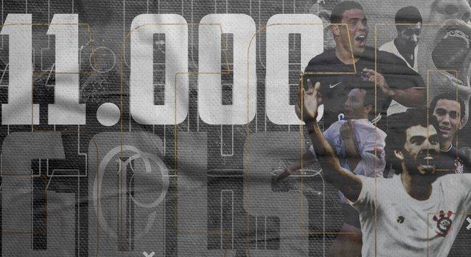 No Twitter oficial do Corinthians, a ilusão do gol 11.000