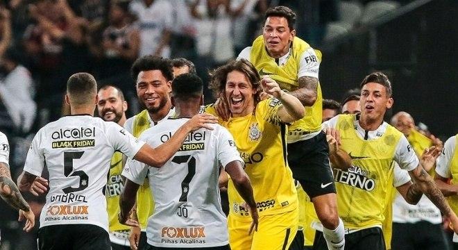 A comemoração do título do Brasileiro de 2017