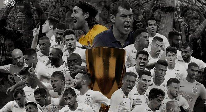A capa celebrativa do Portal do Corinthians