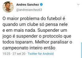 Andrés Sanchez dá o apoio do Corinthians ao Palmeiras. E alfineta o Flamengo