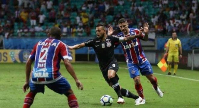 Corinthians perdeu por 1 a 0 para o Bahia