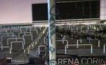As traves da Neo Química Arena também foram pichadas com a frase 'Cassio Frango'. O Alvinegro fez um boletim de ocorrência e os envolvidos foram presos