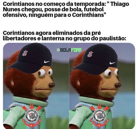 Corinthians sofre com zoações por ser lanterna no Paulistão