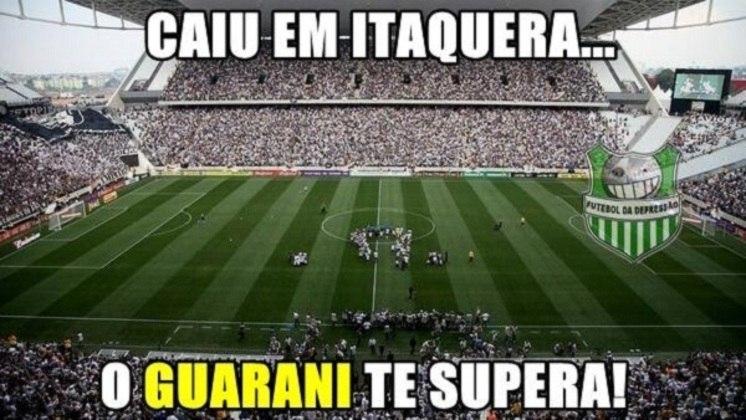 Corinthians x Guarani-PAR - Oitavas de final da Copa Libertadores de 2015 (13/05/2015). Depois de derrota no Paraguai por 2 a 0, o Corinthians não conseguiu reverter o resultado na Arena e ficou apenas no empate por 2 a 2. Segunda eliminação alvinegra na Arena em menos de um mês.