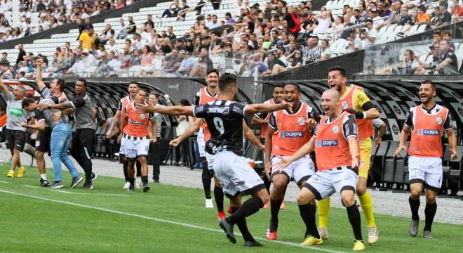 Tcharlles marcou o gol da vitória da Inter de Limeira sobre o Corinthians
