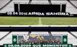 Na preparação da Neo Química Arena para o clássico entre Corinthians e Palmeiras, na última quinta-feira, os corintianos colocaram uma faixa que lembrava a conquista do Campeonato Paulista de 2018. Com a vitória do Verdão, veio a resposta