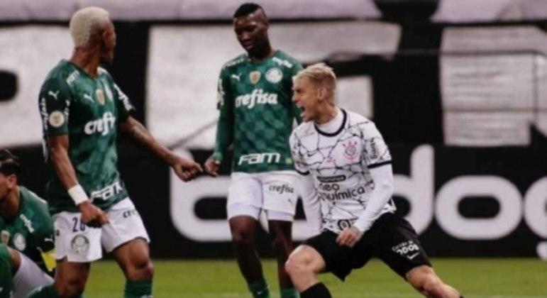 Corinthians x Palmeiras - Roger Guedes Comemorando