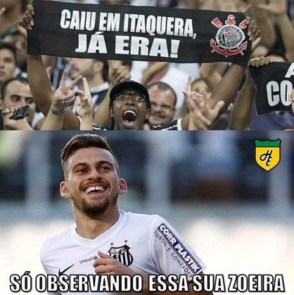 Corinthians x Santos - Oitavas de final da Copa do Brasil de 2015 (26/08/2015). O Santos derrotou o Corinthians por 2 a 1 e garantiu a vaga para as quartas da Copa do Brasil em plena Arena