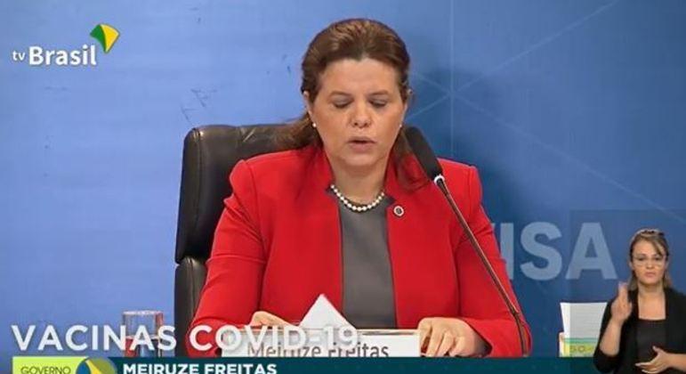 Meiruze Freitas, diretora da Anvisa e relatora da análise do uso emergencial das vacinas CoronaVac e de Oxford