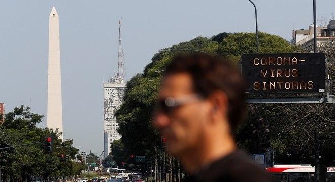O foco de contágios na Argentina é a Região Metropolitana de Buenos Aires