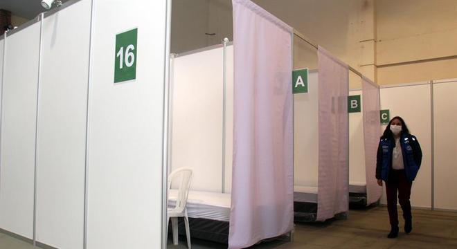 O maior centro de exposições da Bolívia foi convertido em hospital de campanha
