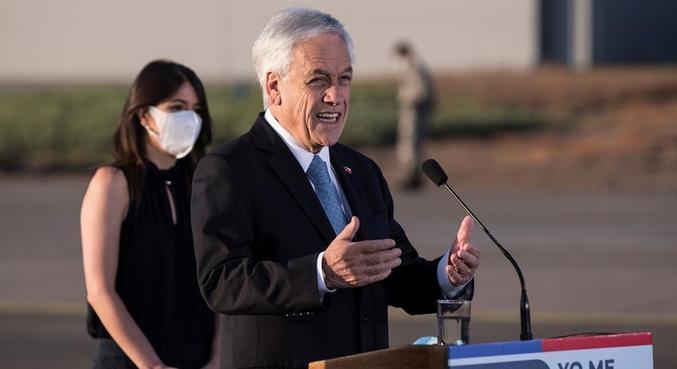 Sebástian Piñera e a esposa se isolaram voluntariamente nesta 3ª