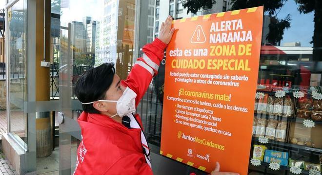 Em Bogotá, aumentaram os bairros considerados em 'alerta laranja' para covid-19