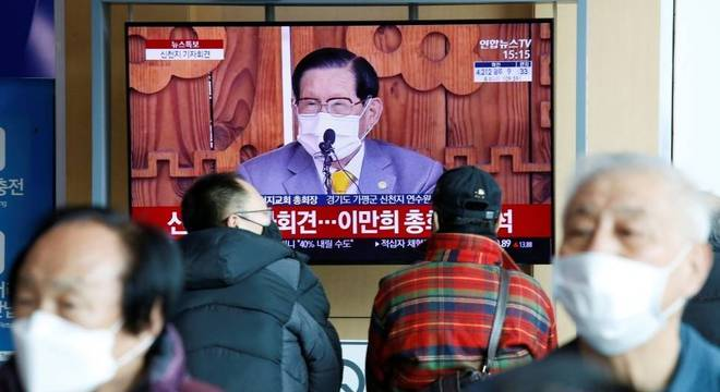 Fundador da Igreja de Jesus de Shincheonji na TV: culto é epicentro da epidemia