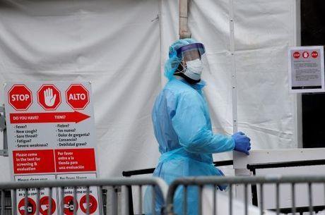 Hospital em Nova York durante a pandemia de covid-19
