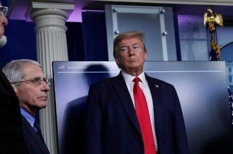 Trump não gostou da declaração de Fauci (e)