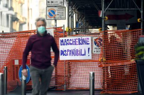 Lombardia aplicará multa contra quem não usar máscara
