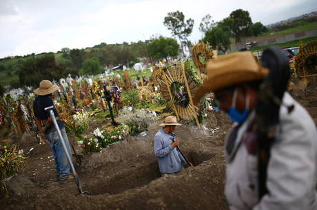 México é 3º país com mais mortes por covid-19