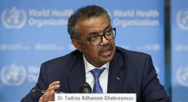 Diretor-geral da inOMS, Tedros Adhanom Ghebreyesus