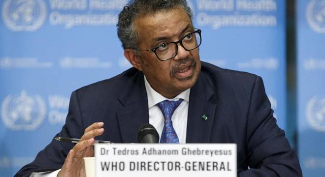 O diretor-geral da Organização Mundial de Saúde, Tedros Adhanom