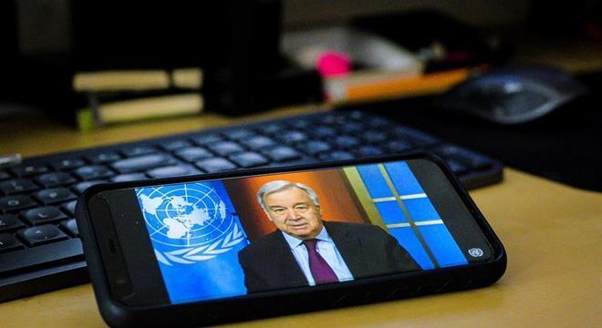 Guterres falou na abertura de uma cúpula virtual