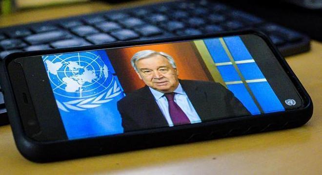Antonio Guterres, da ONU, deu entrevista a distância