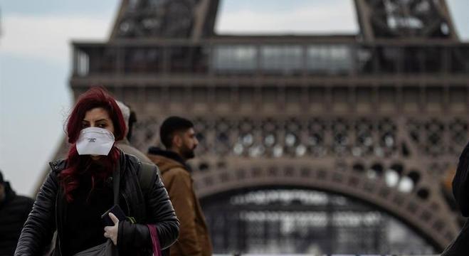 No último dia 15, a França registrou a primeira morte pelo Covid-19 na Europa