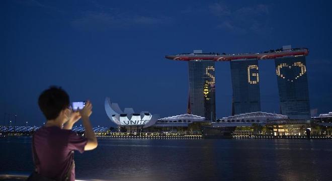 Skyline de Singapura: apelo à tecnologia e ao futurismo