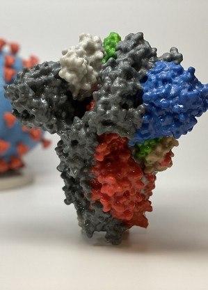Reprodução 3D da proteína S do coronavírus