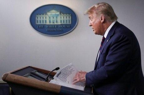 Trump admitiu a cooperação em uma coletiva nesta 3ª