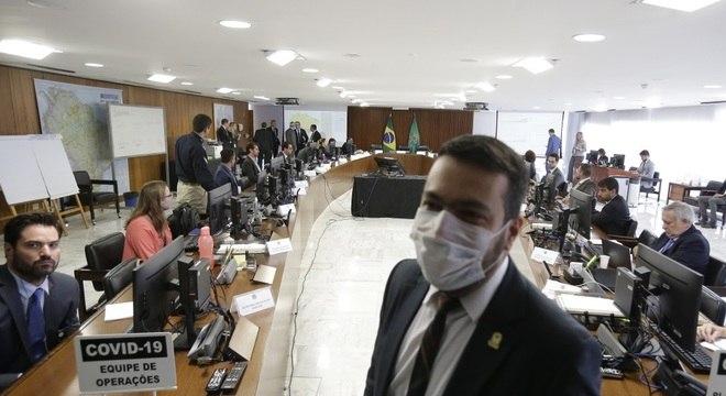 Reunião do Centro de Coordenação das Operações do Comitê de Crise da covid-19