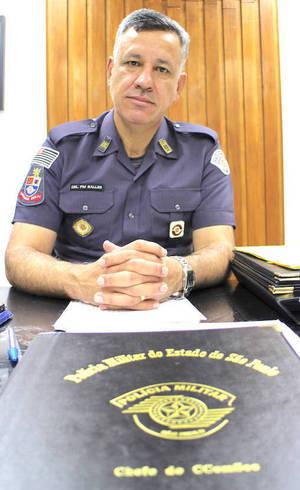 Coronel Marcelo Vieira Salles durante entrevista ao R7