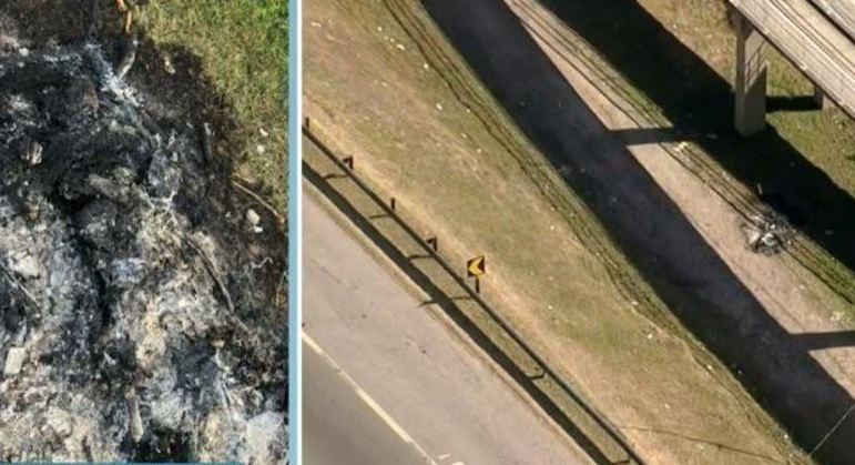 Vítima carbonizada foi encontrada em baixo da Passarela Vila Indiana, Taboão da Serra