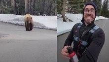 Corredor perseguido por urso sobrevive para contar história