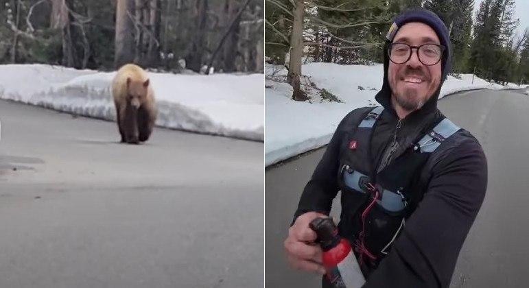 Um corredor stalkeado por um urso nos EUA conseguiu sobreviver para contar história