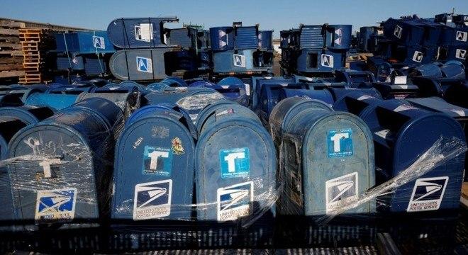 Depósito de caixas de correio em Hartford, no estado de Wisconsin