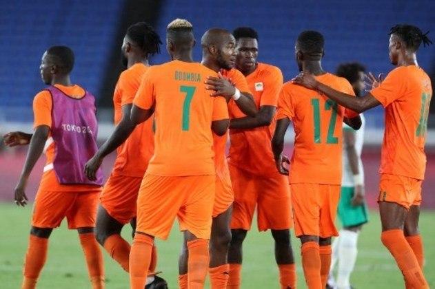 Costa do Marfim: 5 pontos (1 V/2 E/0 D) - Gols pró: 3 / Gols sofridos: 2 / Saldo de gols: 1 - Enfrenta a Espanha nas quartas de final em 31/07, às 05h de Brasília - Pode enfrentar Japão ou Nova Zelândia na semifinal, em 03/08, às 08h.