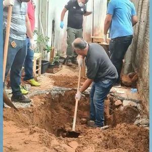 Corpos estavam enterrados em quintal de casa em Pompéia