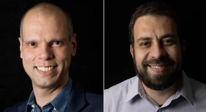 Os candidatos Bruno Covas, atual prefeito pelo PSDB,  e Guilherme Boulos, do PSOL