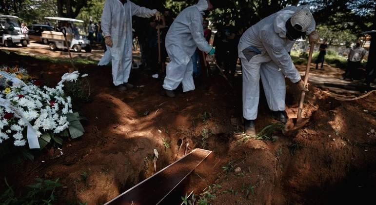 Cidade de São Paulo registra recorde de enterros na pandemia