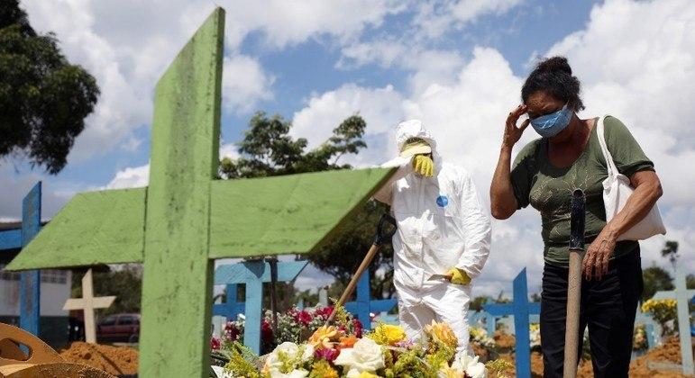 Março de 2021 foi o mês mais letal da pandemia no Brasil, com 66.573 mortes pela covid-19