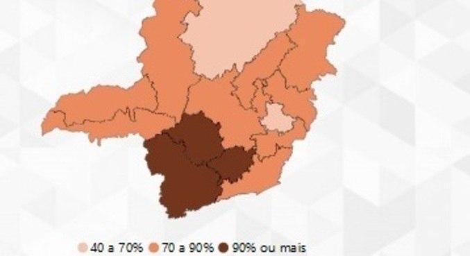 Três regiões estão com ocupação acima de 90%
