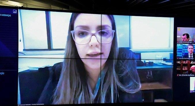 Emanuela Medrades, diretora da Precisa, que teria intermediado negociações da Covaxin