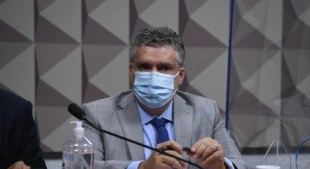 O diretor da empresa FIB BanK, Roberto Pereira Ramos Júnior, na CPI da Covid