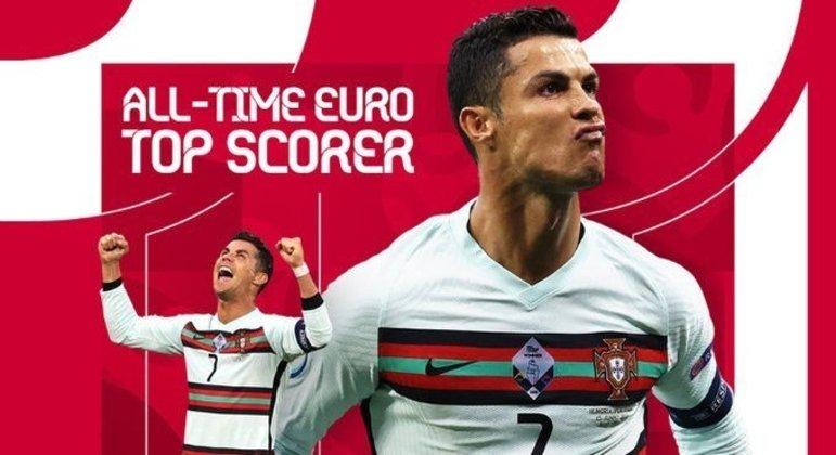 Ele, o CR7, Cristiano Ronaldo, primados diversos na Europa