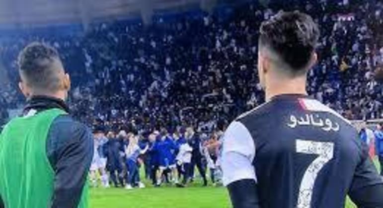 Na Arábia Saudita, Cristiano Ronaldo, da Juventus, testemunha a festa da Lazio, em 2019